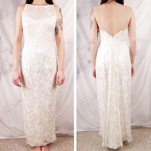 🌟NWT🌟 VTG Lace Maxi Dress